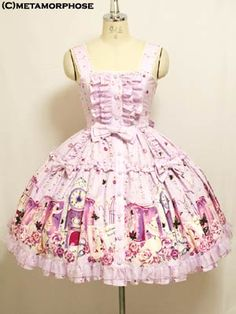 Lolibrary | Metamorphose Temps de Fille - JSK - Fairy Tale Frill Pinafore Dress