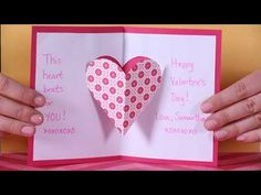 Valentine's Day Pop Up Card Tutorial: 3D Heart - YouTube