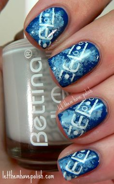 Let them have Polish!: Bettina- Acid Wash nail art
