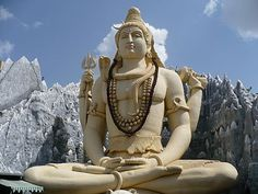 This statue is of the Hindu god, Shiva. He is known as the Great God, aswell as the Destroyer, and the Transformer