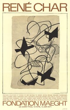 Georges Braque-Rene Char-1983 Poster Braque, Georges