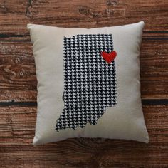 Small Indiana Pillow | More Colors