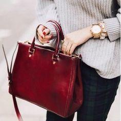 "BCBG Paris Brand New double zipper burgundy tote Middle magnetic closure. No strap Interior zip closure pocket and two drop pockets Approximate Measurements: 10.5"" x 14"" x 4.5"", 8"" Drop Color: Burgundy Composition: 100% Polyurethane                         plus dustbag included BCBG Bags Totes"