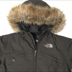 The North Face Arctic Parka Olive colored nylon down parka. Hits around the knee depending on how tall you are. Pre-owned and loved, but in excellent condition. No signs of wear. Let me know if you have questions. North Face Jackets & Coats Puffers
