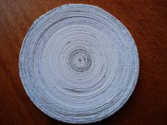 Coaster made of shredded paper