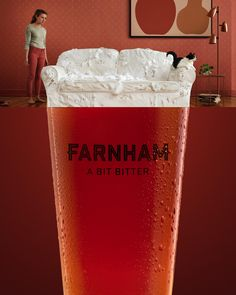 Print advertisement created by Canada for Farnham Ale & Lager, within the category: Alcoholic Drinks. Print Advertising, Print Ads, Creative Advertising, Ale, Non Alcoholic Beer, Banner, Beer Cooler, Beer Tasting, Smirnoff