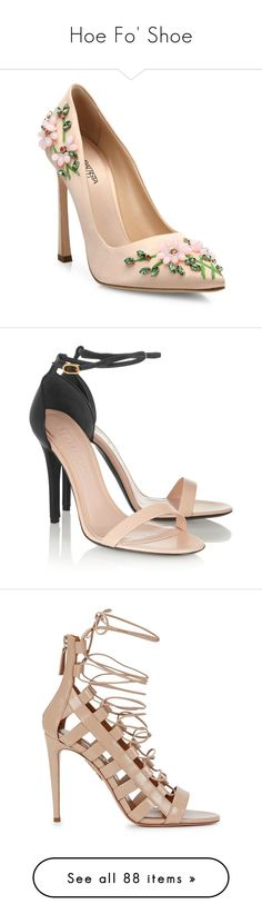 """""""Hoe Fo' Shoe"""" by alba-mudarra on Polyvore featuring shoes, pumps, heels, zapatos, pink, apparel & accessories, pink satin shoes, satin shoes, pink pointed toe pumps y giambattista valli shoes"""