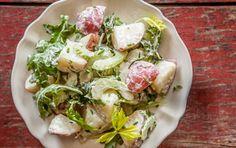 Vegan Potato Salad with Arugula and Celery