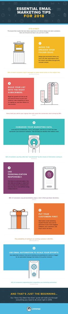 Essential Email Marketing Tips for 2018 - #infographic