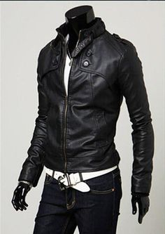 Aliexpress.com : Buy New Fashion Men Motorcycle Leather Jackets Short Slim Fit Solid Color Outwear Coats from Reliable leather jackets suppliers on *&#BEAUTY HOME*&# DRESS | Alibaba Group