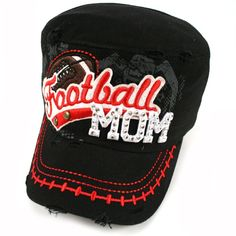 7165194f Football Mom Cadet Cap Black Rock this football cadet like the #1 fan that  you