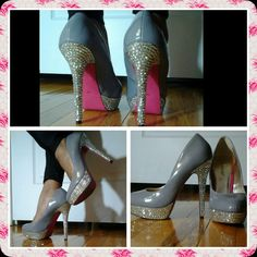 DIY Bejeweled shoes, Bedazzled shoes, Bling shoes, How To Customize Shoes
