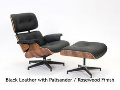 Charles Eames Lounge Chair and matching Foot-Rest.