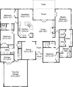 A 4 Bedroom, 3 Bath Colonial House Plan. Ask us about customization!