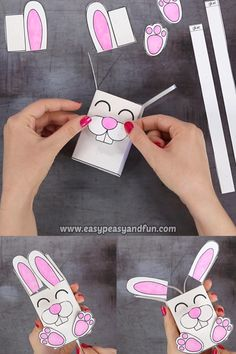 We've go another amazing Easter project ready for you – let's make a movable bunny paper toy. # Movable Bunny Paper Toy - Easter Craft for Kids Diy Home Crafts, Holiday Crafts, Fun Crafts, Paper Crafts, Clothespin Crafts, Amazing Crafts, Canvas Crafts, Creative Crafts, Wood Crafts