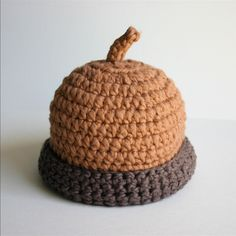Organic Cotton Baby Hat  Acorn by adriennekinsella on Etsy, $21.00
