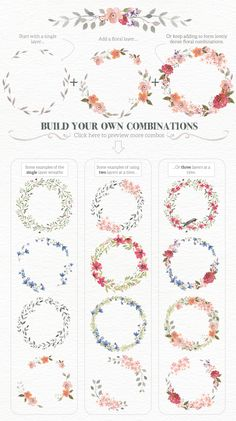 Watercolour Wreath Creator - Illustrations - 2