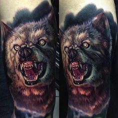 This portrait of Zowie from the King-inspired film Pet Sematary 2 was done by Paul Acker. #InkedMagazine  #PetSemetary #tattoo #tattoos #inked #ink #horror