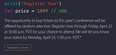Terminata la lotteria per i biglietti della WWDC 2016