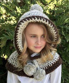 Cowl Hooded Crochet Pattern Hooded Cowl Crochet by AvaGirlDesigns