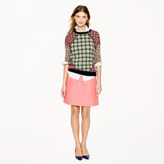 Collection wool-silk A-line skirt- 25% off any order at jcrew.com for 48 hours with code SECRET.