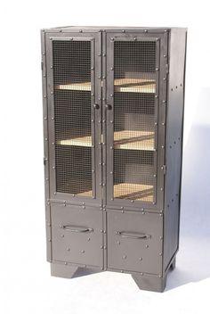 Szafa Komoda Indystrial LOFT Metal Metalowa drewno (proj. KKopeć), do kupienia w DecoBazaar.com
