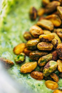 Pistachio avocado sauce! 5 Minute Magic Green Sauce - Pinch of Yum. I'd sub basil for the parsley possibly