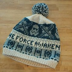 Free Ravelry Pattern. This is a pattern for all you Star Wars lovers planning to go see the upcoming movie in style. It's mostly colorwork, with a slight brim on the edge, which I suggest blocking to lay flat after finishing.