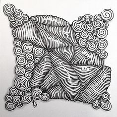 """#zentangle 2015-022, """"One Zentangle A Day"""" day 5 where I learned isochor and printemps (again) and adding sparkle to tangles (which needs practice). 
