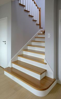 Ideas - Treppengeländer-Ideen -Stairway Railing Ideas - Treppengeländer-Ideen - under stairs washroom ideas under stairs washroom ideas How to Connect a Portable Generator to a Home? Stairway Railing Ideas, Staircase Railing Design, Outdoor Stair Railing, Staircase Makeover, Modern Staircase, Banister Ideas, Wooden Staircases, Wooden Stairs, Stairways