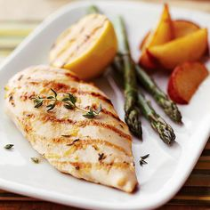 Grilled Lemon Chicken - A marinade is a great way to awaken the flavor of chicken with minimal prep work. A mixture of chicken broth, lemon, and spices turns chicken breast halves into a savory must-have dish while keeping sodium in check.