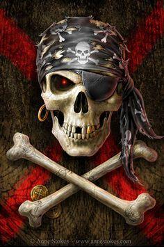 Pirate Skull - Anne Stokes Photo (25692049) - Fanpop