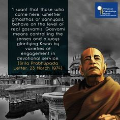 #VrindavanGlories: A striking instruction from Srila Prabhupada in a letter from 1974.