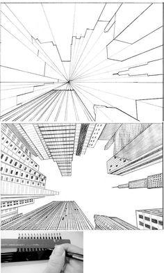 Draw Pattern - Tutorial City in Perspective 2 by ~ lamorgh .-Draw Pattern – Tutorial Stadt in Perspektive 2 von ~ lamorghana auf deviantART … – CoDesign… Draw Pattern – Tutorial City in Perspective 2 by ~ lamorghana on deviantART … – CoDesign Magazine Drawing Techniques, Drawing Tips, Drawing Sketches, Drawing Drawing, City Drawing, Pencil Drawings, Drawing Ideas, Sketching, Eye Sketch