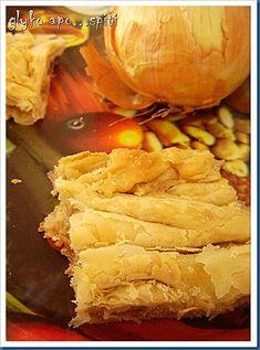 Εικόνα 047 Onion Pie, Snack Recipes, Snacks, Chips, Bread, Drink, Food, Recipes, Snack Mix Recipes