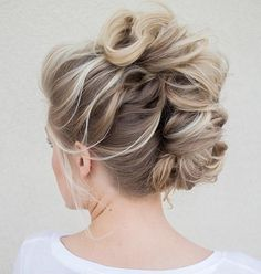 Curly Braided Faux Mohawk Updo