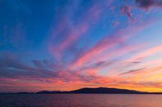 Sunset, Water, Sea, Ocean, Colorful, Nature, Summer