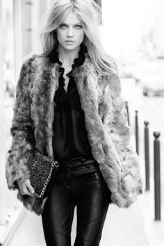 leather and faux fur