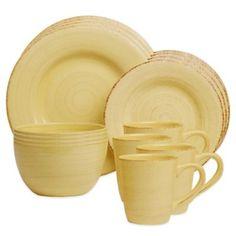 Sonoma Dinnerware in Yellow - BedBathandBeyond.com