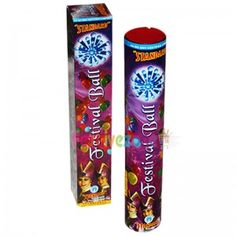 Shoots out cracker in the sky which bursts into flower shaped red streaks with blue light - http://www.festivezone.com/cracker-detail/festival-balls.html