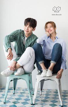 """Ji Chang Wook and Nam Ji Hyun for Suspicious Partner - Promotional Posters "" Korean Actresses, Korean Actors, Actors & Actresses, Korean Dramas, O Drama, Drama Fever, Ji Chang Wook, Incheon, My Shy Boss"