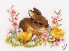 Rabbit With Chicks - Cross Stitch Kits by VERVACO - ЗТ-0145421