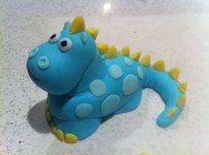Fondant Dinosaur cake topper Dinosaur Cake Toppers, Fondant Figures, Rubber Duck, Cake Art, Art Decor, Cake Decorating, Dinosaur Stuffed Animal, Toys, Gabriel