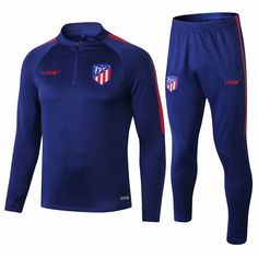726a8ad2 2018/19 Men Atletico Madrid Tracksuit Soccer Training Suit Adult Football  Jacket Soccer Wear