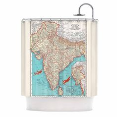 Australia centered world map shower curtain mercator historical australia centered world map shower curtain mercator historical map fabric turquoise home decor bathroom travel vibrant map ology and travel gumiabroncs Gallery