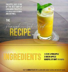The Pineapple-Apple-Mint Juice Recipe! #pineapple #mint #apple