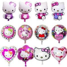 Ballons & Accessories Beautiful 1pcs Big Pink Hello Kitty Foil Balloons Heart Balloon Baby Girl Shower Birthday Party Decorations Favor Kids Toy Supplies Kt Cat Terrific Value Festive & Party Supplies