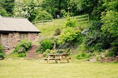 self-catering barn sleeping 4 overlooking the Black Mountains, set in 48 acres of hillside and woodland, Garn Farm provides the perfect escape. Cosy, Picnic, Bench, Barn, Converted Barn, Picnics, Desk, Bench Seat, Barns