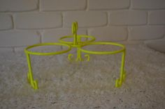 Fluro Yellow Bowl holder for dips, biscuits and other yummy treats