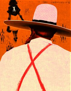 Skip Sterling Illustration: 'The Amish Farmer' (Shorty story by Vance Bourjaily)